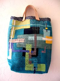 Quilted tote bag - Brilliant for handstitching with scraps Clothing, Shoes & Jewelry : Women : Handbags & Wallets : Women's Handbags & Wallets hhttp://amzn.to/2lIKw3n