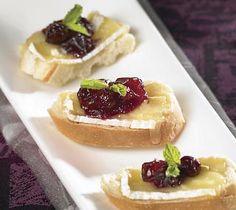 Thrifty Foods - Recipe - Hot Camembert and Cranberry Canapés