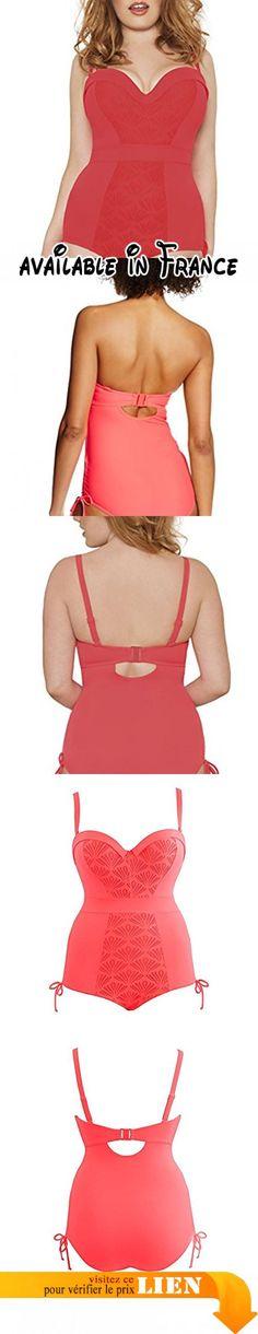 ALZORA - Maillot de bain femme bikini - Haut Push Up avec franges - 10200 - Rouge - Large Le Moins Cher À Vendre Payer Prise Avec Paypal VEx0d