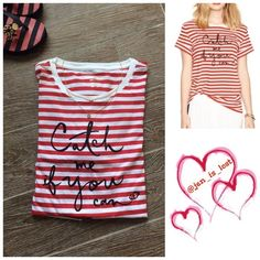 "Kate Spade Catch Me if You Can Cute Cotton Tee, Catch me if you can. By Kate spade 100% cotton. Medium is 27"" long.  These are women's sizes. NWT kate spade Tops Tees - Short Sleeve"