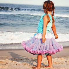 Lilac Turquoise Pettiskirt for Babies and Kids-I just love this!