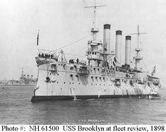 USS Brooklyn at fleet review, 1898.