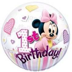 Micimackó Hurrá szülinapi Képeslap | Party Kellékek Webshop Bubble Balloons, Foil Balloons, Latex Balloons, Bubbles, Minnie Mouse 1st Birthday, Baby Mickey, Biodegradable Products, Cute Babies, Baby Boy