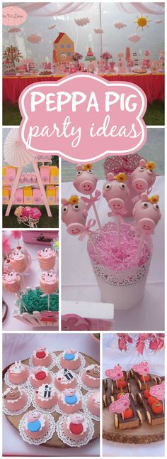 How fun is this Peppa Pig girl birthday party? See more party ideas at CatchMyP. - Geburtstag - How fun is this Peppa Pig girl birthday party? See more party ideas at CatchMyP. Fiestas Peppa Pig, Cumple Peppa Pig, Fiestas Party, 4th Birthday Parties, Birthday Fun, Peppa Pig Birthday Ideas, Peppa Pig Party Ideas, Peppa Pig Cupcake, Peppa Pig Cakes