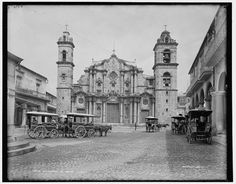 La Catedral in Havana, circa 1900. (Library of CongressIn pictures: archive photos of Cuba's Havana from the early 1900s