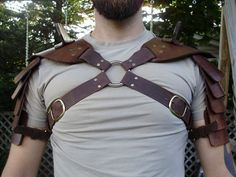 Leather Shoulder Armor Patterns Gladiator hardened leather