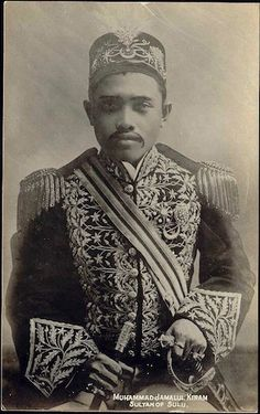 Sultan Jamalul Kiram II, the last sovereign of the Sultanate of Sulu. Old Pictures, Old Photos, Philippine Architecture, Polynesian People, Philippines Culture, Filipino Culture, Dutch East Indies, Mindanao, Asian History