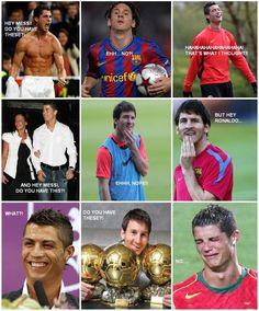 Ronaldo vs Messi - Leo is the king