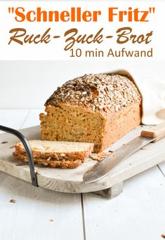 """The """"fast Fritz"""". Simple box bread with no walking time. - A simple bread with guaranteed success – no walking time, just stir the dough and put it in the c - Meatloaf Recipes, Meat Recipes, Fall Recipes, Baking Recipes, Cookie Recipes, Food Processor Recipes, Pampered Chef, Easy Carrot Cake, Healthy Breakfast Smoothies"""