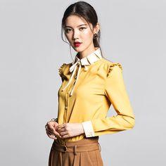 2013 Trendy Women's Western Shirts Yellow