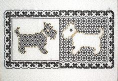 Blackwork Dogs Blackwork Kit by X-Calibre Designs