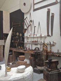 Leslie Williamson Photographs Constantin Brancusi's Atelier Brancusi Sculpture, Constantin Brancusi, Workshop Studio, Workshop Design, Dream Studio, Studio Art, Old Tools, Vintage Tools, Antique Tools