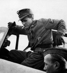 """Generalleutnant Walter """"Graf Punski"""" .Krupinski  was a Luftwaffe fighter ace of World War II and a senior West German air force officer after the war. He was one of the highest-scoring pilots, credited with 197 victories in 1,100 sorties. He was called by his fellow pilots Graf Punski (Count Punski)"""