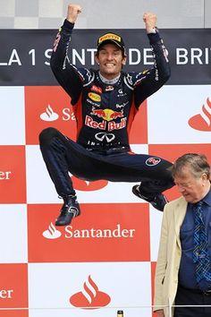 Race winner Mark Webber (AUS) Red Bull Racing