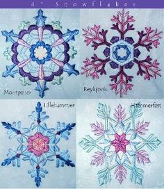 BentleySnowflakes San Francisco Stitch Co Machine Embroidery Designs