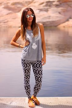 Love by Lynn: Lake time + Style Lately leggings giveaway..