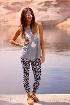 Love by Lynn: Lake time + Style Lately leggings