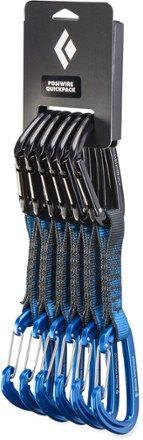 Black/Blue 12cm Quickdraws for sport climbing