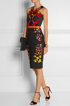 Peter Pilotto | Lera embellished wool, crepe and velvet dress | ❤️