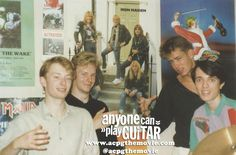 This Is What Radiohead Looked Like In The 80s. As band On A Friday. Promo for Anyone Can Play Guitar movie.