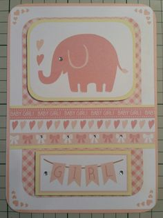Baby girl card by Emma Law