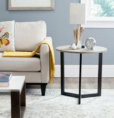 BALLARD END TABLE FOX4213A Accent Tables Color: Oak & Black