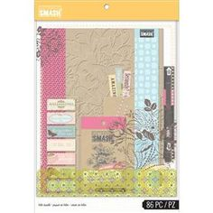 Blitsy: K&Company Smash Folio Bundle Pink - K&Co Smash Book Kits - Paper - Save up to on craft supplies! Smash Book, Mini Albums, Tampons, Sticky Notes, Journal Cards, Scrapbooks, Craft Supplies, Red And White, Crafty