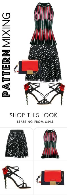 """""""Mixed up"""" by ningaunis ❤ liked on Polyvore featuring Dolce&Gabbana, M Missoni, Mulberry and patternmixing"""