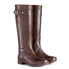 Hunter leather boots. Just love the look in brown