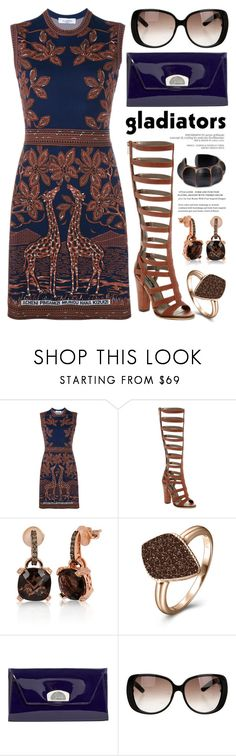 """""""Gladiator sandals 2082"""" by boxthoughts ❤ liked on Polyvore featuring Valentino, Michael Antonio, LE VIAN, H.Azeem, Christian Louboutin, Gucci and NOVICA"""