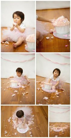 Soft pink & Tutu cake smash - 1st birthday – Vancouver cake smash photography