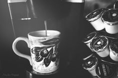 Morning Ritual {everyday in black and white} photo