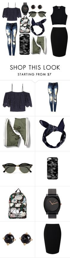 """""""Look 8"""" by cawdii on Polyvore featuring Ganni, Keds, Boohoo, Ray-Ban, Mr. Gugu & Miss Go, adidas Originals, Irene Neuwirth and Jacques Vert"""