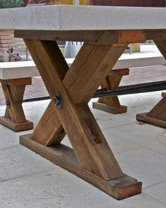 metalwork on this table hand-forged by Maynard Studios, table available through http://www.exceptionaloutdoorfurnishings.com
