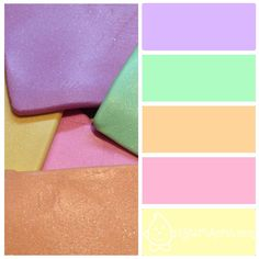 Spring Pastels - Polymer Clay Color Palette by KatersAcres
