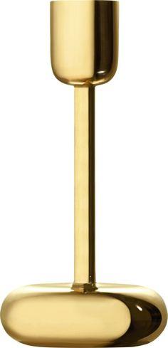 Iittala - Nappula Candleholder 183 mm brass - Iittala.com