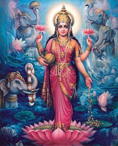 Lakshmi: goddess of prosperity; reminds us of our own ability to create abundance in all areas of our lives