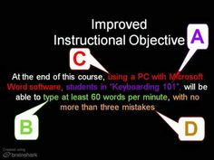 http://my.brainshark.com/Writing-Learning-Objectives-145416319 - Here is a short presentation on writing measurable learning objectives. These are especially...