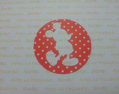 Recorte circular MICKEY festa do MICKEY