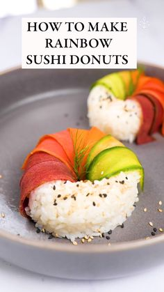 Vegan Dinner Recipes, Delicious Vegan Recipes, Rice Recipes Vegan, Vegetarian Recipes, Sushi Recipes, Vegan Dinners, Vegan Recipes Easy, Raw Food Recipes, Vegetable Recipes