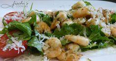 eine kulinarische reise....: garnelen auf rucola