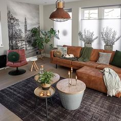 You definitely realize that furniture can influence state of mind, and if the ultimate objective is to make a loosening up space, boho furniture is a… Boho Living Room, Home And Living, Living Room Decor, Brown Couch Living Room, Living Room Furniture, Home Furniture, Furniture Outlet, Furniture Ideas, Decoration Table