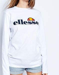 Image 3 ofEllesse Long Sleeve Top With Front Logo