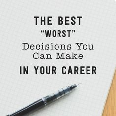 """The Best """"Worst Decisions"""" You Can Make in Your Career from Roadtrip Nation"""