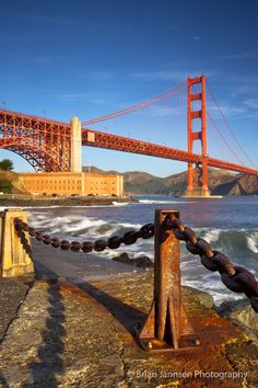 Early morning beneath the Golden Gate Bridge at Ft. Baker, San Francisco, California USA. © Brian Jannsen Photography