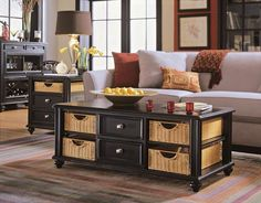 Camden Dark End Table And Cocktail Table In Black