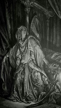 Phillip Medhurst presents detail 142/241 Gustave Doré Bible Judith and Holofernes Judith 13:8