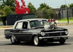 Blown & Holden& in Australia. Notice the steering . Australian Muscle Cars, Aussie Muscle Cars, Holden Muscle Cars, Man Cave Gear, Street Racing Cars, Hot Rides, Drag Cars, Car Humor, Drag Racing