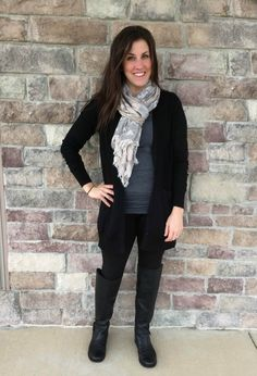 cabi black cardigan