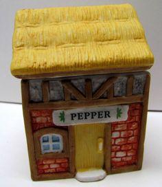 Vintage DECORATIVE CERAMIC PEPPER Holder / Storage - Kitchen Decor - Home Decor - Collectables by VINTAGEandMOREshop on Etsy https://www.etsy.com/listing/238262563/vintage-decorative-ceramic-pepper-holder